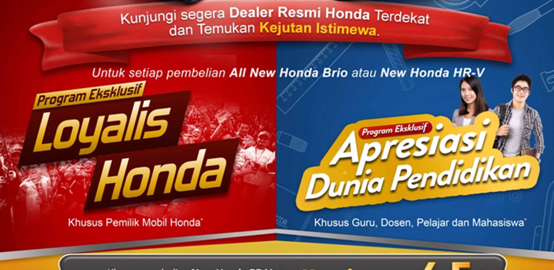 """LANJUTKAN PROGRAM PENJUALAN """"HONDA BIG SURPRISE"""", HONDA TAWARKAN KEJUTAN ISTIMEWA BAGI GURU, PELAJAR, DAN LOYALIS HONDA DI INDONESIA"""